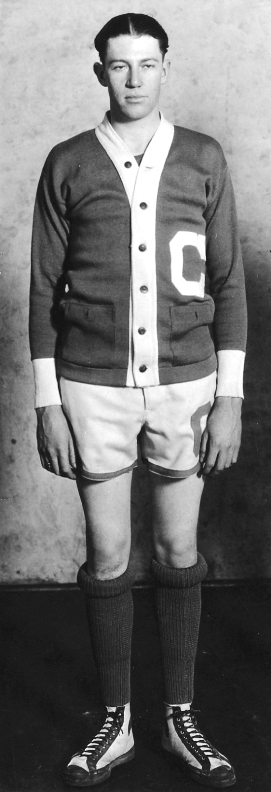"Check out the ""Lovely"" rolled socks-and-sweater uniform!"
