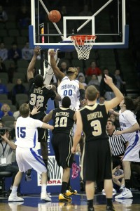 Gregory Echenique (00) played solid defense to go with a CU career-high 19 points (WBR/Adam Streur)