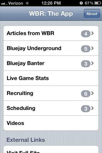 WBR: The App