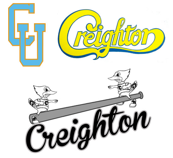 Alternate logos from the late 1970s and early 1980s. (Images courtesy Creighton University Archives)
