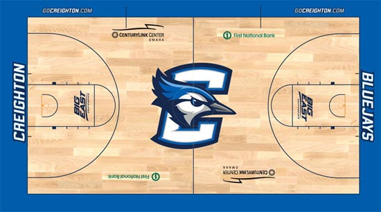 The new court design. (Image courtesy GoCreighton.com)