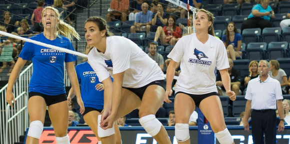 Photo Gallery: Creighton Volleyball Blue-White Scrimmage