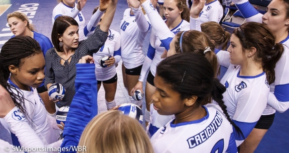 Creighton Volleyball Sweeps Villanova, Clinch Outright Big East Title