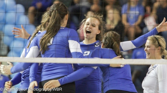 Bluejay Volleyball Loses Elman, but Rallies to Beat Marquette