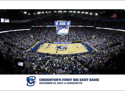 Panoramic Prints Commemorating Creighton's First Big East Game