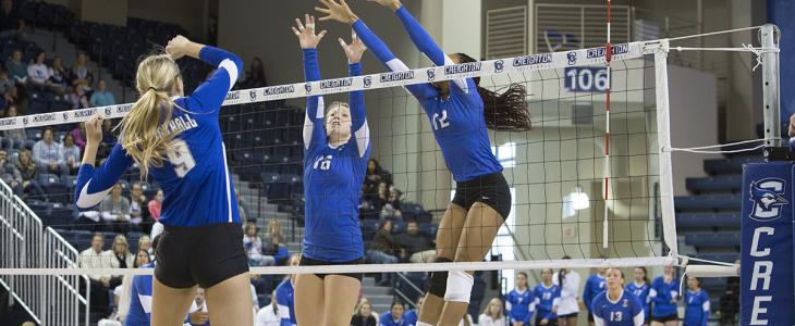 Photo Gallery: Creighton Volleyball Swept in Regular Season Finale vs. Seton Hall
