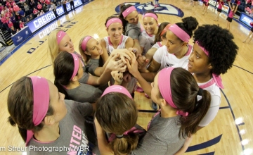 Photo Gallery:  Creighton Women's Basketball Cruises Over Providence in Pink Out Game