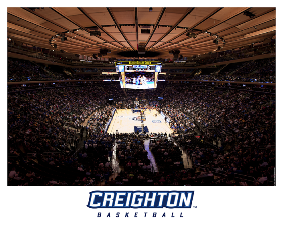Commemorative Creighton Print From The Big East Tournament
