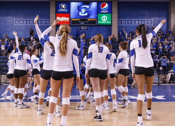 Bluejays Finish Strong to Close Out Villanova in Four Sets