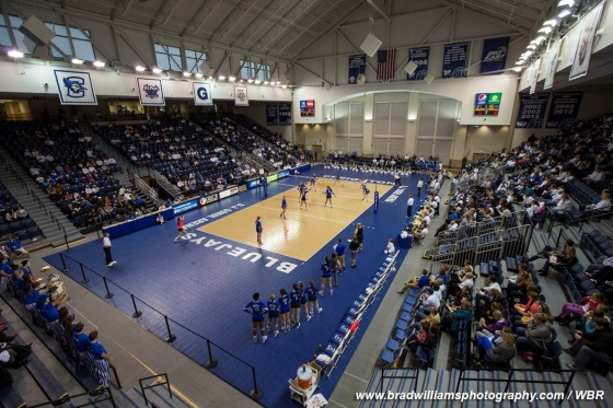 Creighton Volleyball Sweeps Georgetown