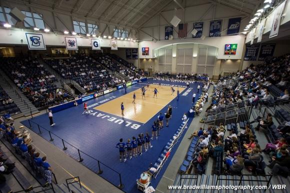 Creighton Volleyball Rolls Over Lipscomb in Home Opener