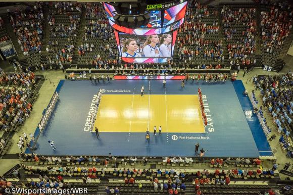 Photo Gallery: Creighton Volleyball Swept by Nebraska