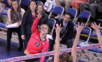 Baumert, Bluejays Rally to Beat DePaul in Five Sets