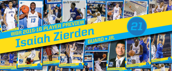 2015-16 Creighton Men's Basketball Profile:  Isaiah Zierden