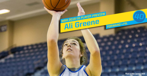 2015-16 Creighton Women's Basketball Profile: Ali Greene