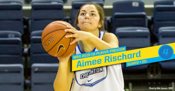 2015-16 Creighton Women's Basketball Profile: Aimee Rischard