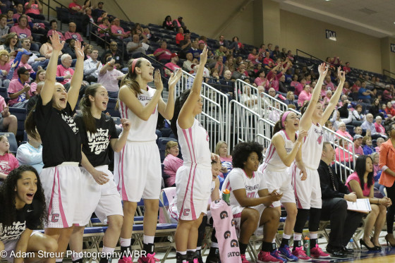 Photo Gallery:  Creighton Women's Basketball Wins Pink-Out Against Marquette