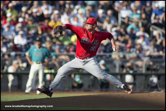 JC Cloney's four-hit gem carries Arizona in Game 1 win over Coastal Carolina