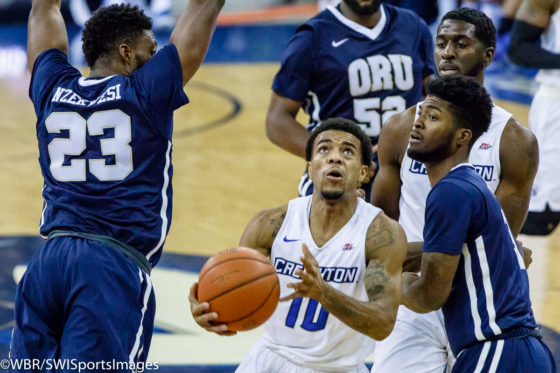 Morning After: #10 Creighton Survives Scare from Oral Roberts, Holds On for 66-65 Win