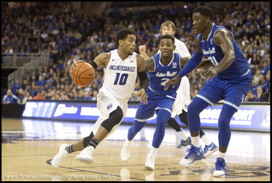 Photo Gallery: #10 Creighton Men's Basketball Defeats Seton Hall in Big East Opener