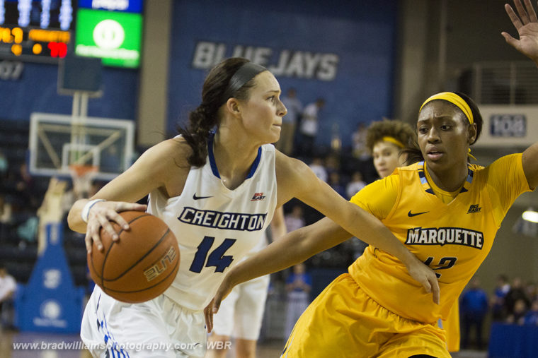 Photo Gallery: Creighton Women's Basketball Wins Close One Over Marquette