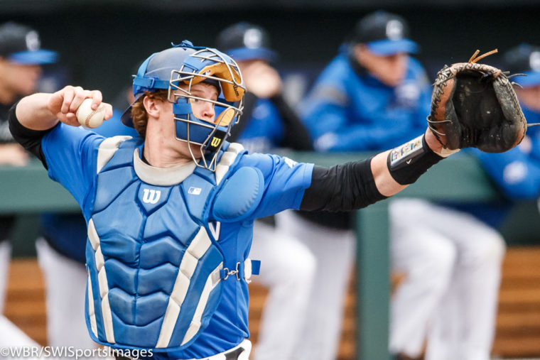 Backed by Albrecht, Bluejays down Aggies 2-1