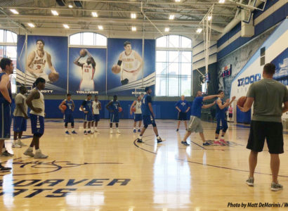 The Championship Center is an ideal summer vacation spot for Creighton's new trio of gym rats