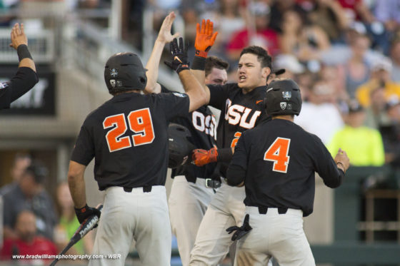 Top-seeded Oregon State rocks LSU to move one win away from CWS Finals