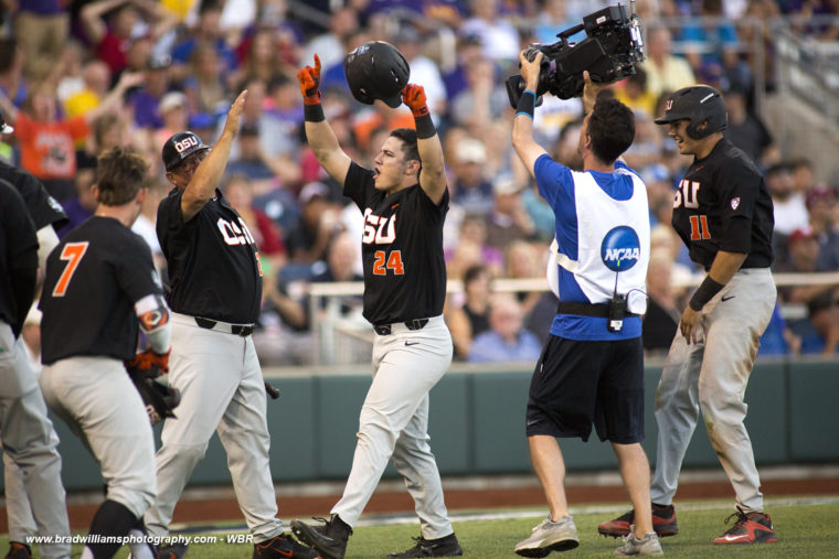 CWS Photo Gallery:  Oregon State Destroys LSU