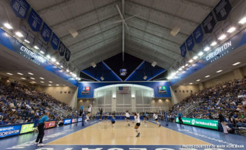 No. 7 Creighton sweeps No. 13 Kentucky in front of a record crowd at D.J. Sokol Arena