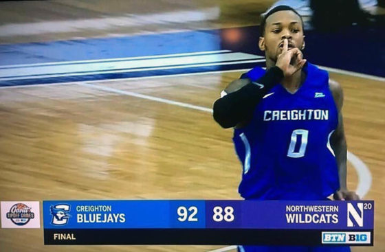 Morning After: Creighton Wins Thriller at #20 Northwestern Thanks to Another Huge Night from Khyri Thomas