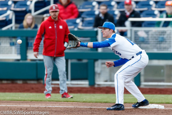 HISTORY! JAYS COMPLETE SWEEP OF CORNHUSKERS 5-4 BEHIND ALLBERY'S 3 RBI'S, KAMETAS'S CLUTCH SAVE!