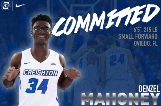 Path to NBA leads Denzel Mahoney to Creighton