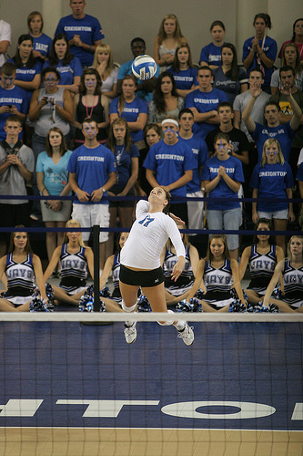 Creighton Volleyball Blue-White Scrimmage Notes